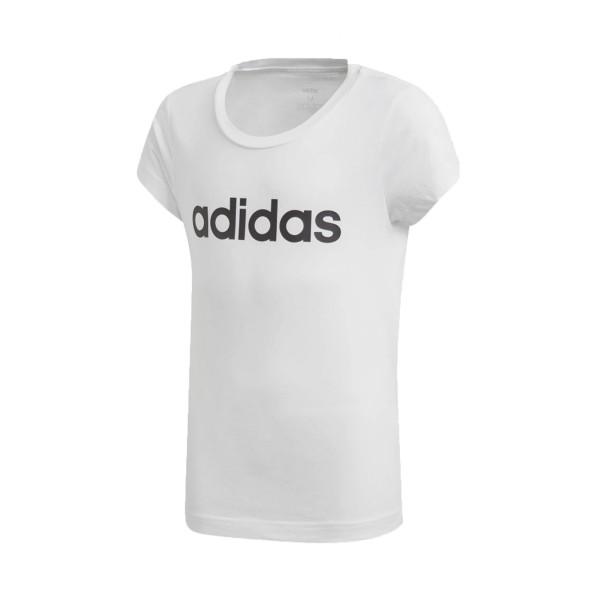 Adidas Essentials Linear Tee T-Shirt Λευκο
