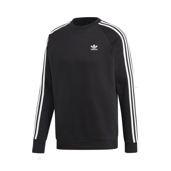 Adidas Originals 3-Stripes Crewneck Sweatshirt Black