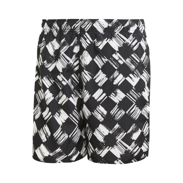 Adidas Printed Checker Boardshorts Black - White