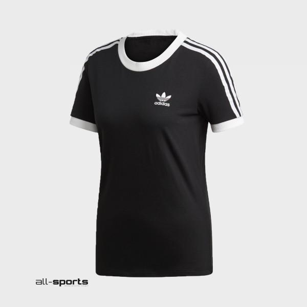 Adidas Originals 3-Stripes Tee T-Shirt Black - White