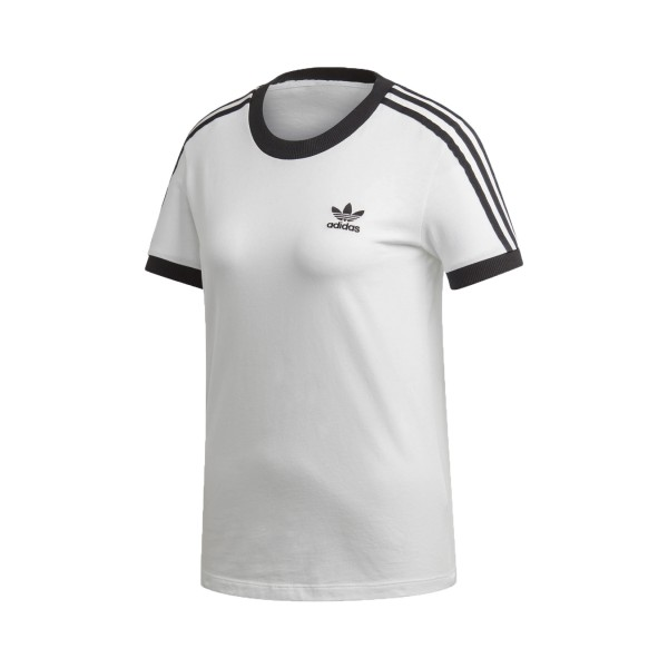 Adidas Originals 3-Stripes Tee T-Shirt White -  Black