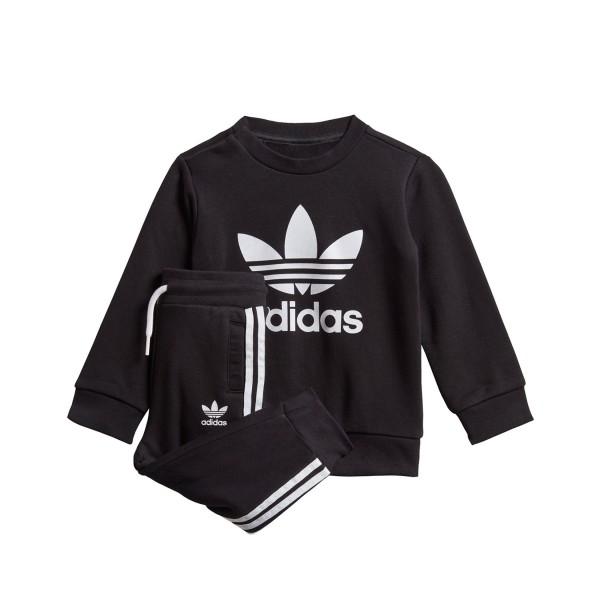 Adidas Originals Crew Βρεφικο Σετ Μαυρο