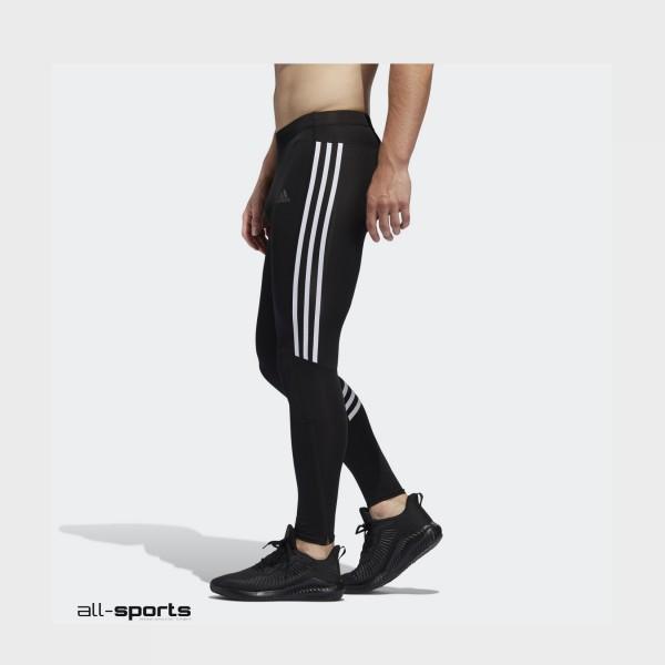 Adidas Run It 3-Stripes Tights Black