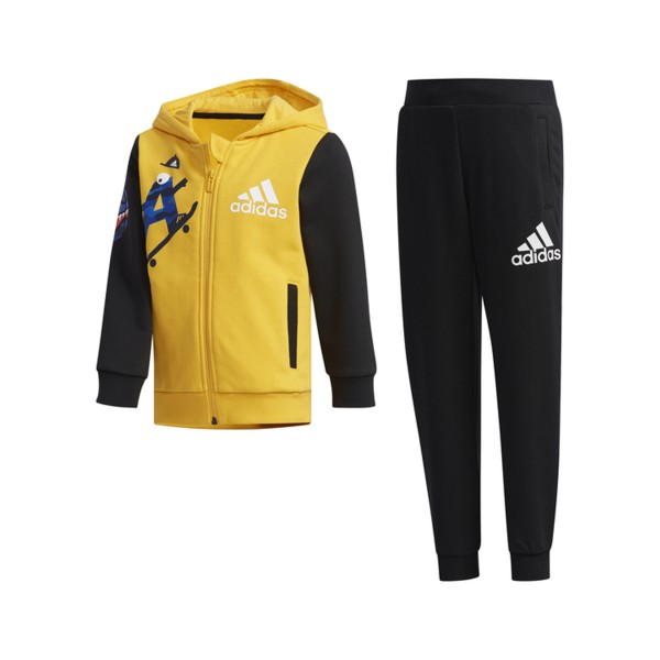 Adidas Performance Graphic Hoodie Monster Yellow - Black