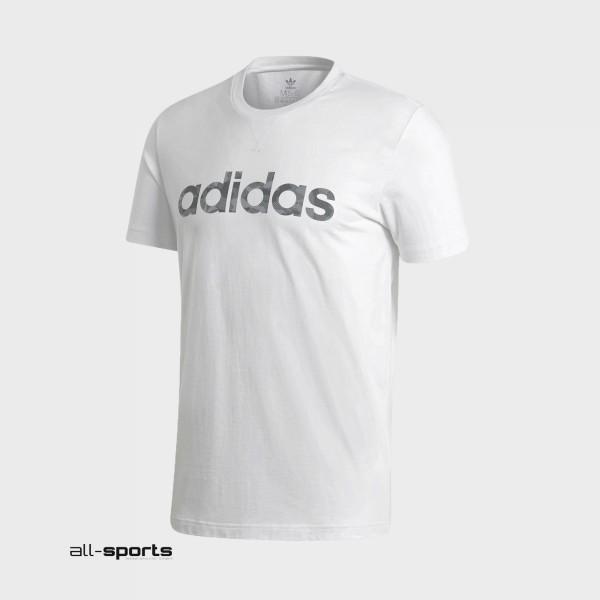 Adidas Camo Linear Tee M White