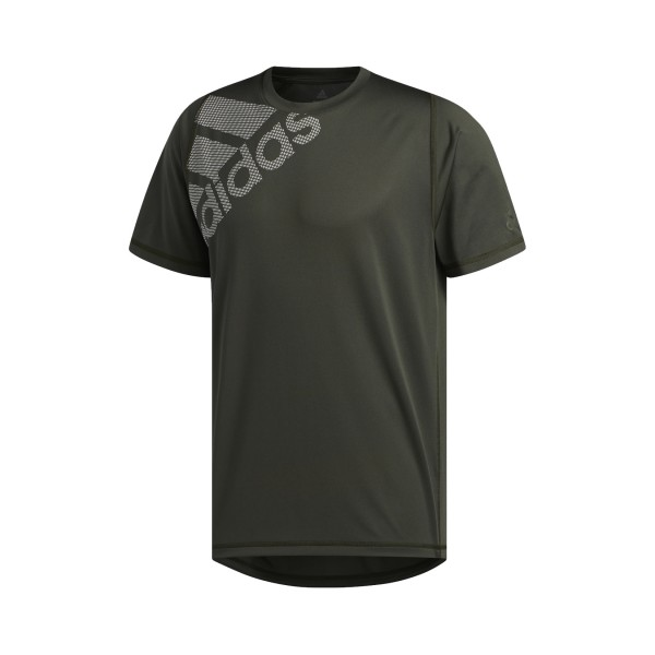 Adidas Freelift Badge Of Sports Graphic Tee Olive