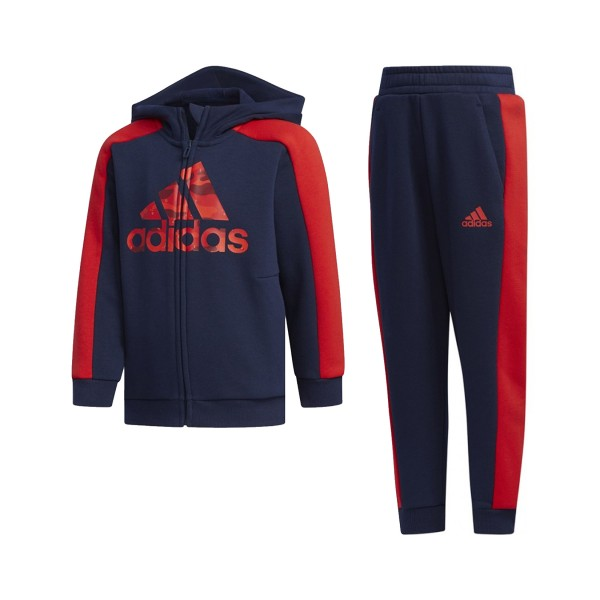Adidas Performance Graphic Hoodie Blue - Red