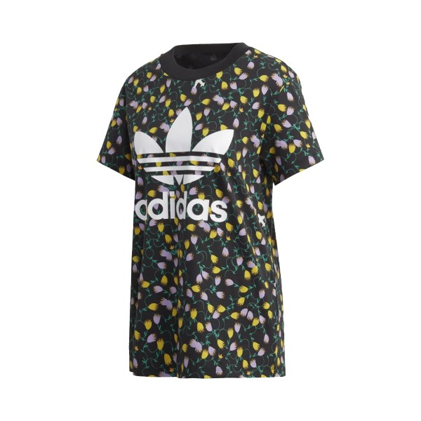 Adidas Originals Allover Print Tee T-Shirt Black - Multicolor