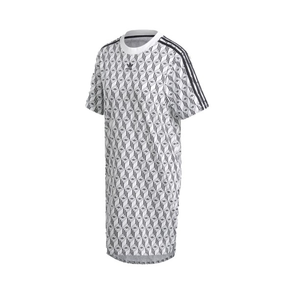 Adidas Originals Tee Dress White - Black
