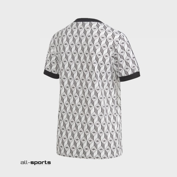 Adidas Originals 3-Stripes Tee Logos T-Shirt White - Black