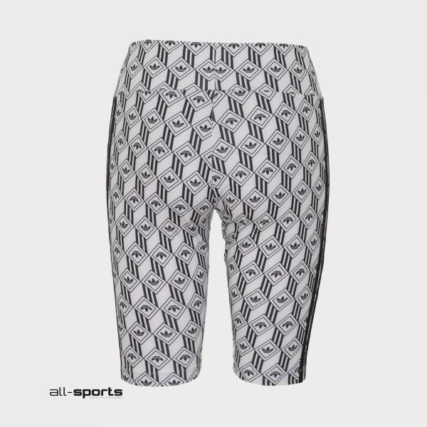Adidas Originals 3-Stripes Logos Bike Shorts White - Black