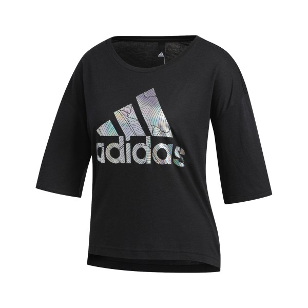 Adidas Badge Of Sport Tee Crop Black