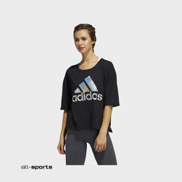 Adidas Badge Of Sport Tee Crop Black