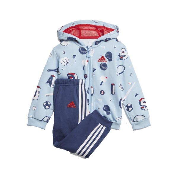 Adidas Graphic Sports Jogger Set Blue