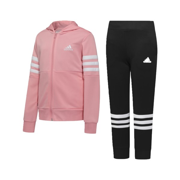 Adidas Hooded Track Suit Pink - Black