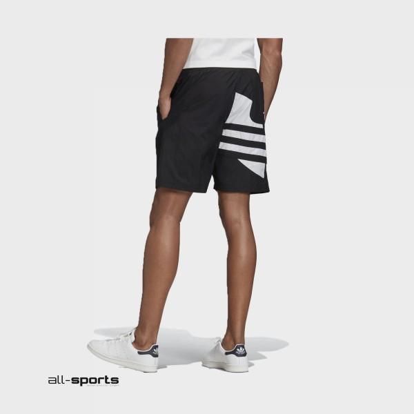 Adidas Originals Big Trefoil Track Shorts Black
