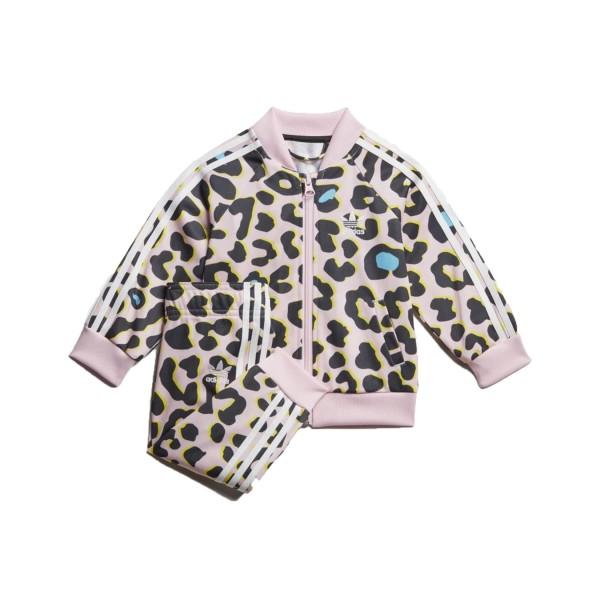 Adidas Originals Lz Sst Track Suit Pink - Leopard