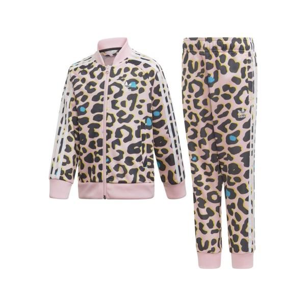 Adidas Originals Sst Track Suit Pink - Leopard