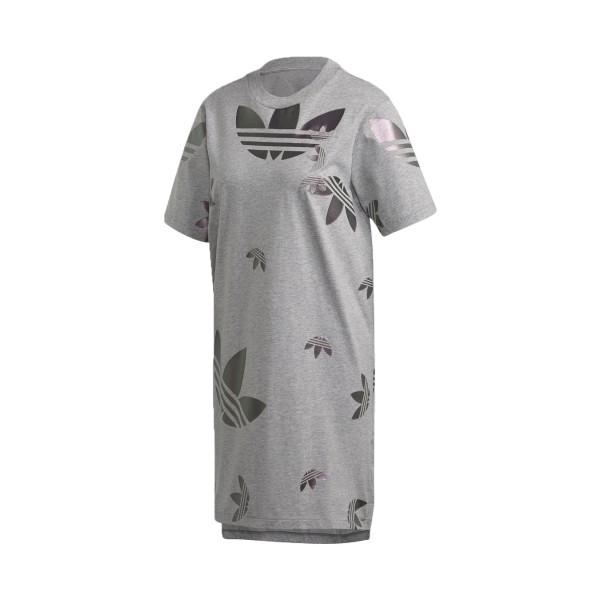 Adidas Originals Large Logo Tee Dress Grey