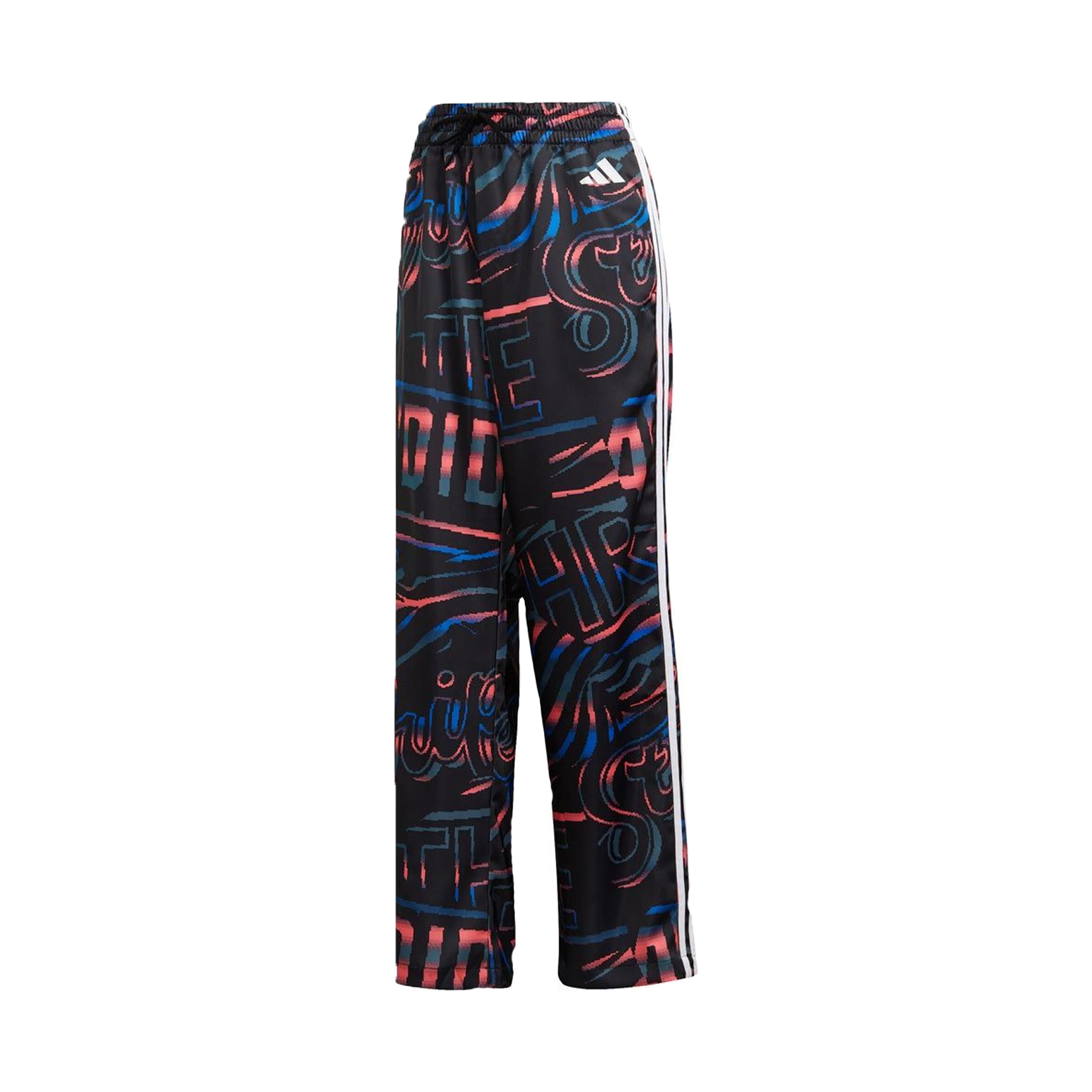 Adidas All Over Print 3 Stripes Wide Pants Black