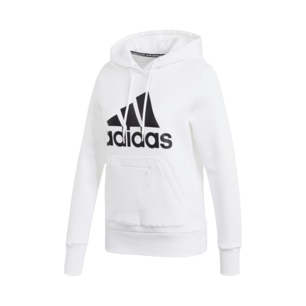 Adidas Badge Of Sports Fleece Hoodie White