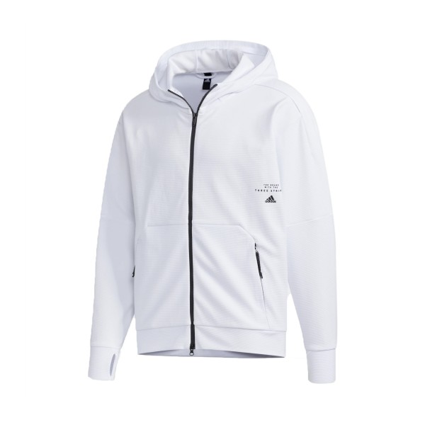 Adidas Must Haves Aeroready Full-Zip Hoodie White