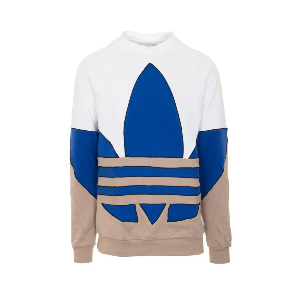 Adidas Originals Big Trefoil Sweatshirt Λευκο