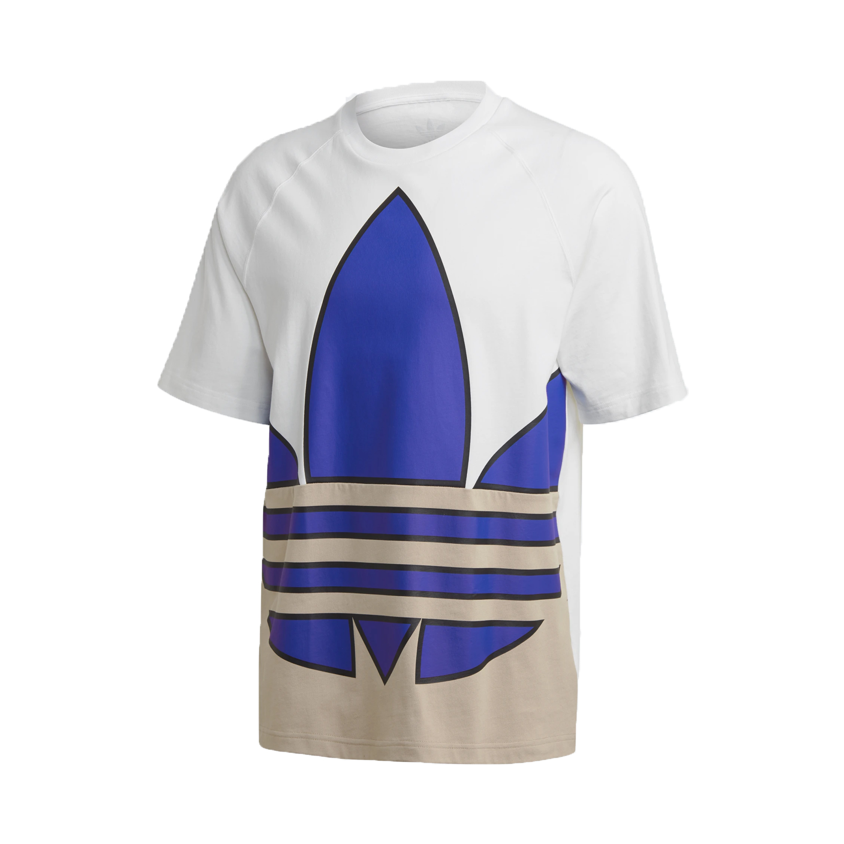 Adidas Originals Big Trefoil Colorblock Tee White