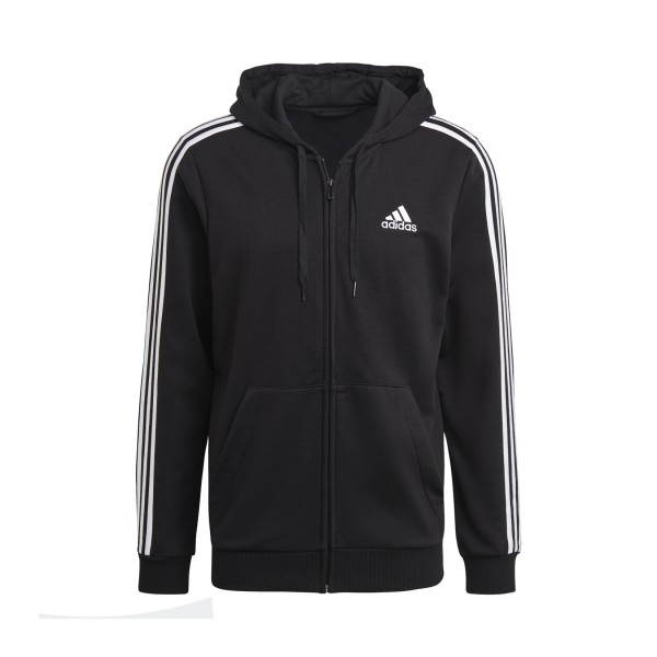 Adidas Essentials French Terry 3-Stripes Full-Zip M Black