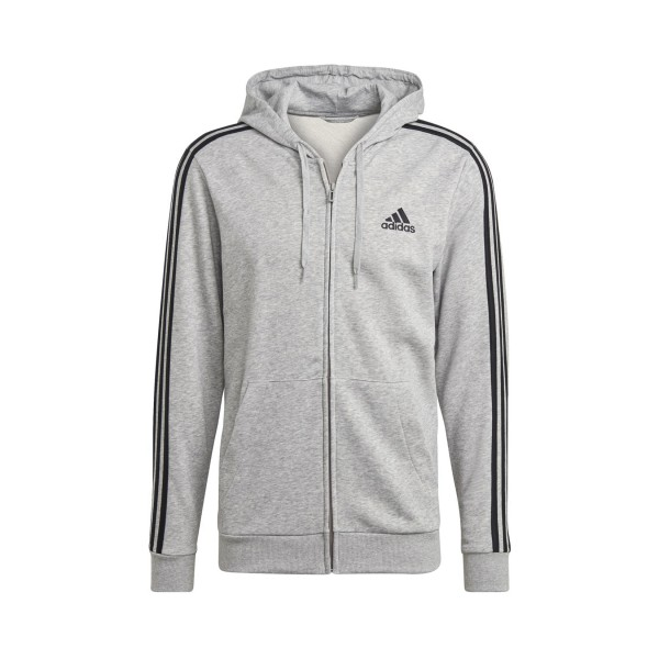 Adidas Essentials French Terry 3-Stripes Full-Zip M Grey