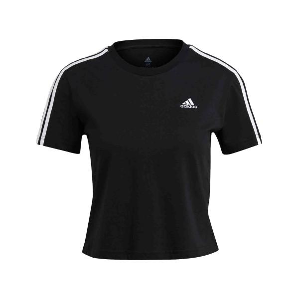 Adidas Essentials Loose 3-Stipes Γυναικεια Μπλουζα Μαυρη