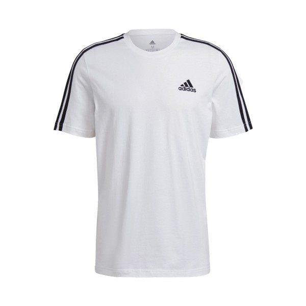 Adidas Essentials 3-Stripes Tee M White