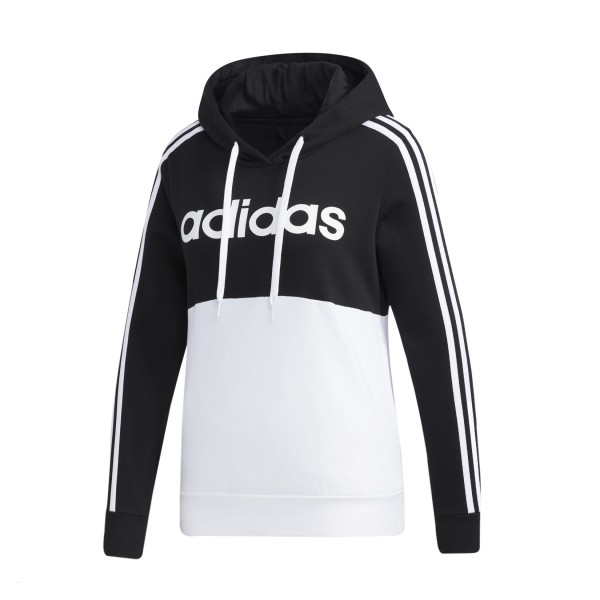 Adidas Essentials Colorblock Hoodie Black - White