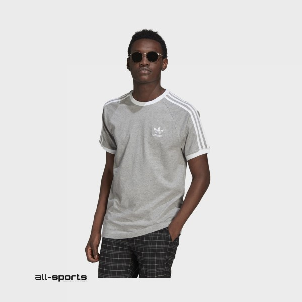 Adidas Originals Classic 3 Stripes Tee Grey