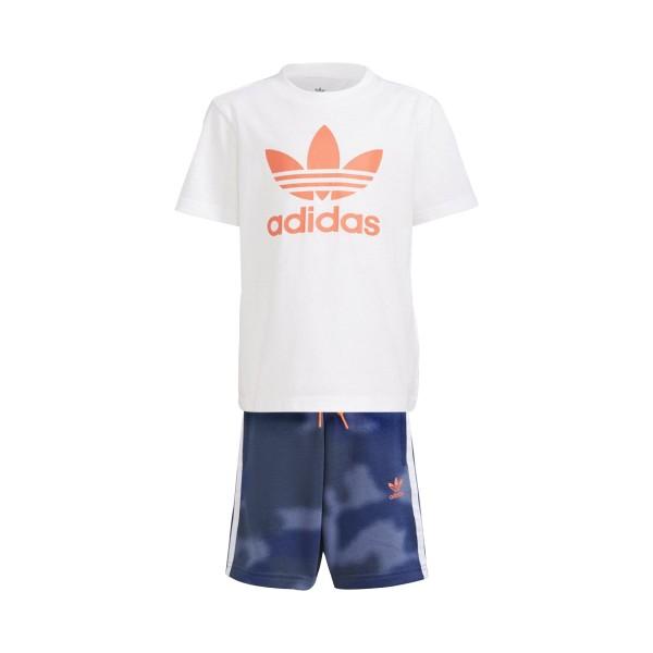 Adidas Originals Short Tee Set  White - Blue