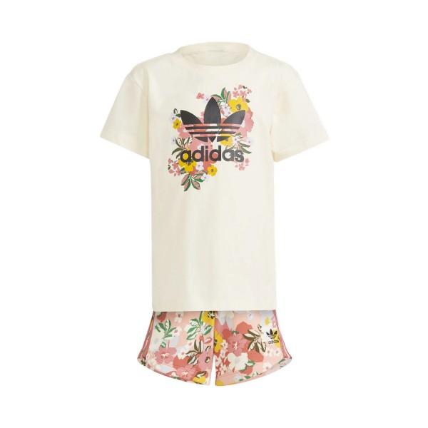 Adidas Originals Allover Print Tee Peach