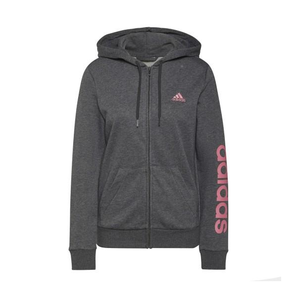 Adidas Essentials Logo Ζακετα Γκρι