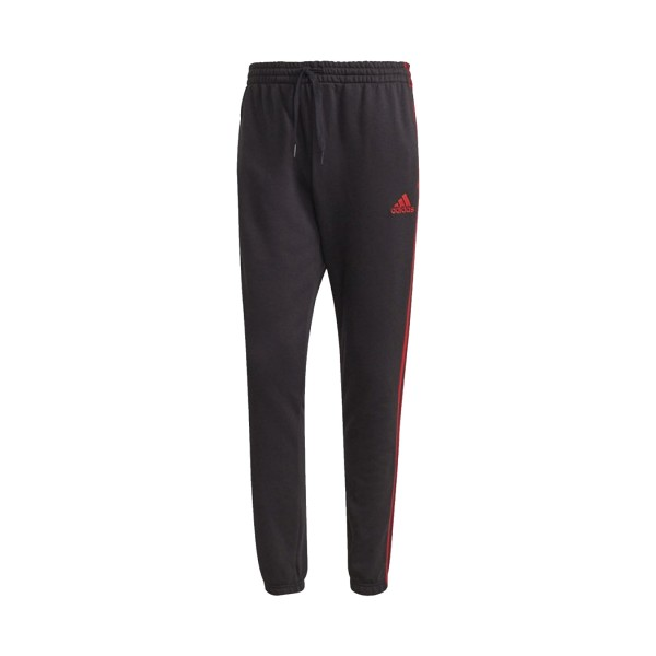 Adidas Essentials 3-Stripes Tapered Cuff Ανδρικο Παντελονι Μαυρο