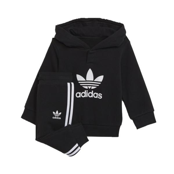 Adidas Originals Adicolor Hoodie Σετ Φορμας Μαυρο