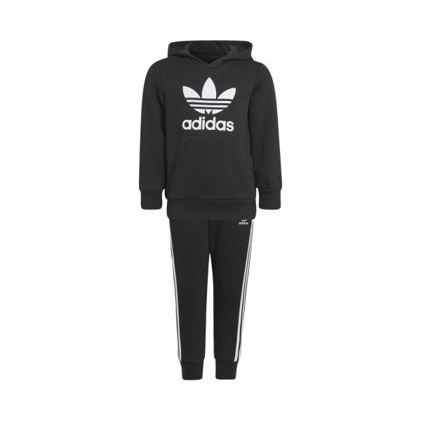 Adidas Originals Adicolor Hoodie Παιδικο Σετ Μαυρο