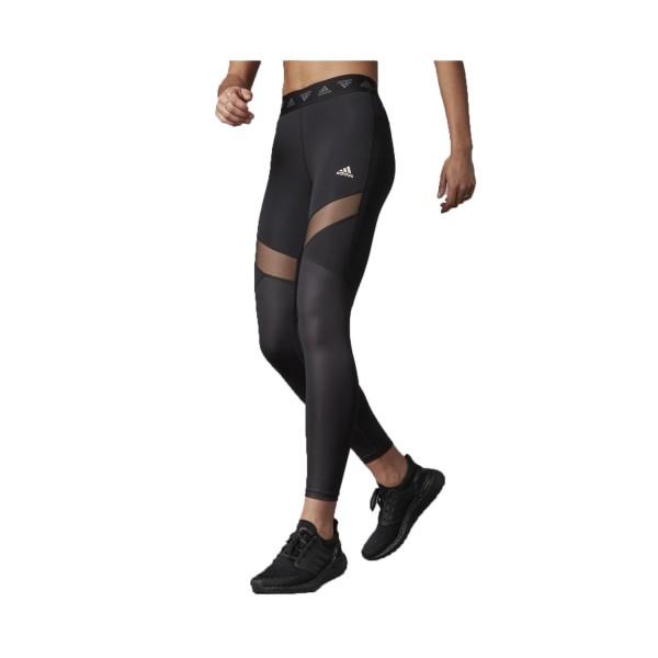Adidas Hyperglam High-Rise Long Leggings Κολαν Μαυρο