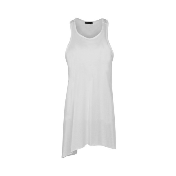 BodyTalk Loose Long T-shirt  Sleeveless White
