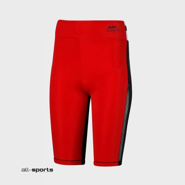 BodyTalk High Waist Biker Leggings Red - Black