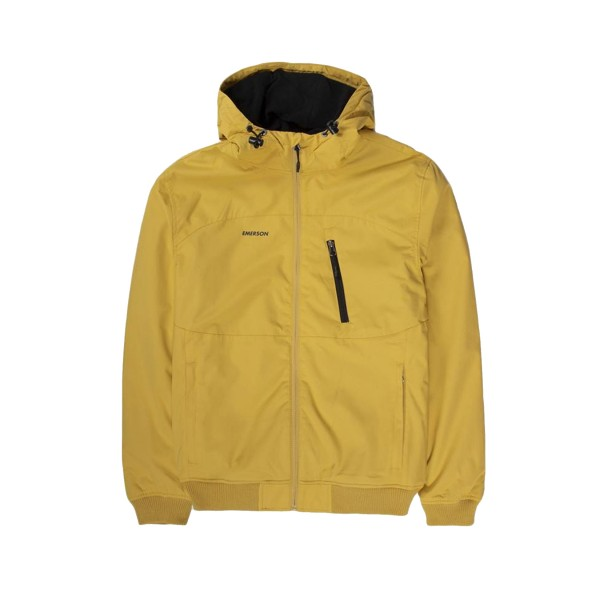 Emerson Ribbed Hooded Jacket Yellow