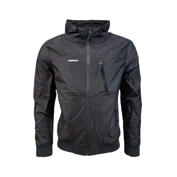 Emerson Soft Shell Ribbed Jacket Dark Grey