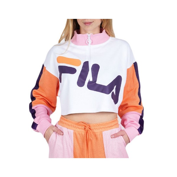 Fila Kaia 1/2 Zip Crop Sweater Multicolor