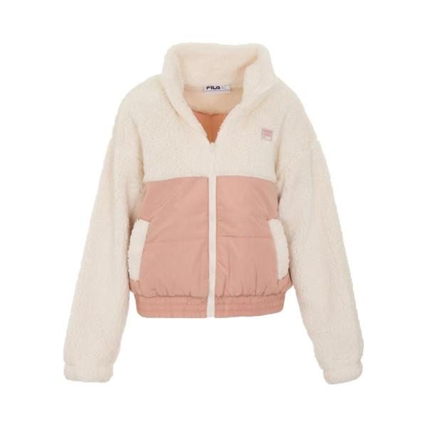 Fila Yauvani Jacket White - Pink