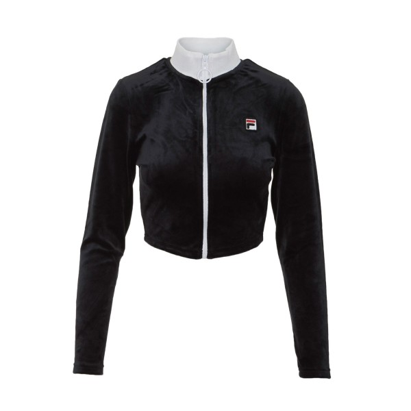 Fila Heritage Chante Crop Sweater Black