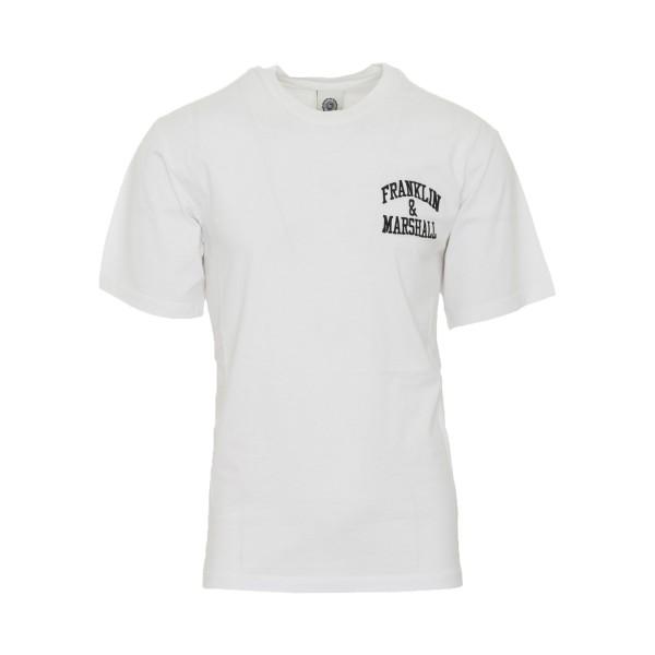 Franklin & Marshall Chest Logo White