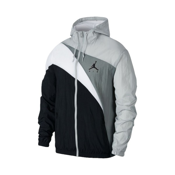 Jordan Jumpman Wave Windbreaker Jacket Grey - Black